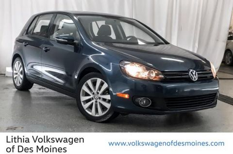 Pre-Owned 2012 Volkswagen Golf 4dr HB DSG TDI w/Sunroof & Nav